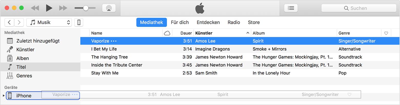 Wie Kopieren von Apple Music auf iPod nano und iPod shuffle