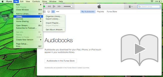 Add Audible audiobooks to iTunes Playlist