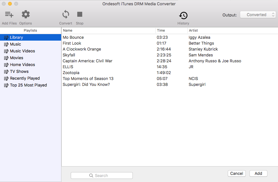 iTunes M4V to MP4 Converter - Main Interface