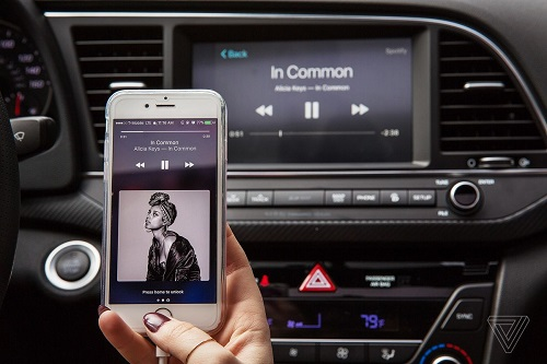 play Spotify music in the car