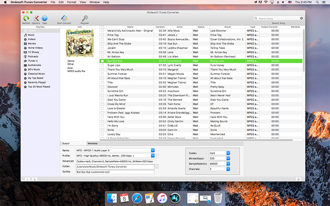 Launch iTunes Music Converter to Convert Purchased iTunes Music